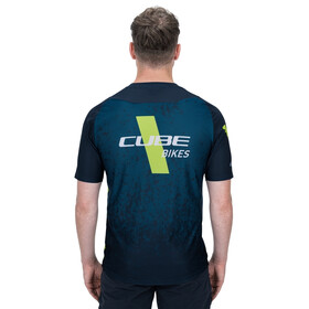 Cube Edge Jersey T-shirt Ronde Hals Heren, grey´n´lime
